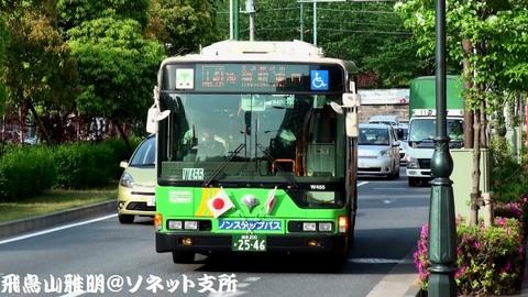 都営バス N-W455@飛鳥山バス停。王40甲系統 池袋駅東口行き。