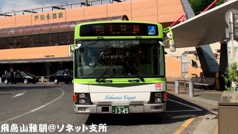 国際興業バス 5114@戸田公園駅バス停。 戸52系統 下笹目行き。