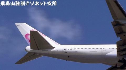 B-18202・機体後方のアップ。ただし、垂直尾翼の梅は、水平尾翼で隠されてしまっております。