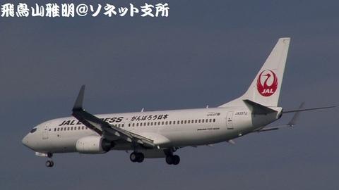 JA337J・後追いキャプチャ。「がんばろう日本」ロゴ入り。