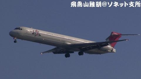 日本航空 JA8070@東京国際空港。浮島町公園より。