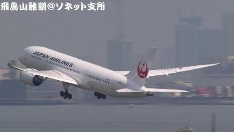 エアボーン直後のJA822J。北京行きです。