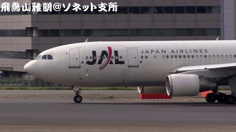 日本航空 JA8563@東京国際空港。第1駐車場より。