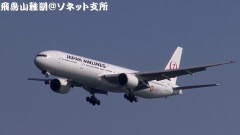 日本航空 JA8941@東京国際空港。浮島町公園より。