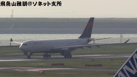 デルタ航空 N859NW@東京国際空港(第2旅客ターミナル展望デッキより)。離陸滑走中@RWY34R。