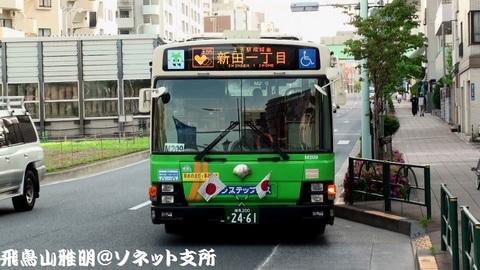 都営バス N-M209@飛鳥山バス停。王55系統 新田一丁目行き。
