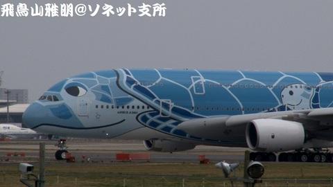 JA381A 機体前方のアップ