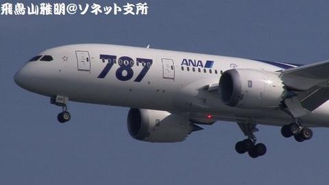 JA801A・機体前方のアップ。
