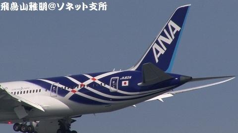 JA801A・機体後方のアップ。