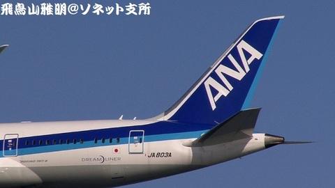 JA803A・機体後方のアップ。