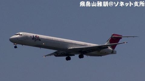 日本航空 JA8064@東京国際空港。浮島町公園より。