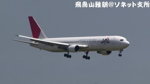 日本航空 JA8265@東京国際空港(京浜島つばさ公園より)。RWY22へのファイナルアプローチ。