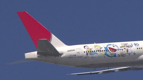 JA8941の機体後部…尾翼もバッチリ((ミ゚エ゚ミ))